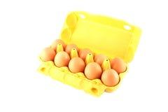 10 huevos Imágenes de archivo libres de regalías