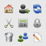 10 ikon ustawiająca stylizowana sieć Obrazy Royalty Free