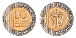 10 Israeli New Sheqel coin Stock Photo