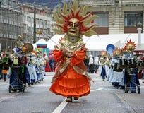 10 karnevalschweizare Arkivfoto