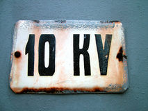 10 kilovoltage Royalty Free Stock Photo