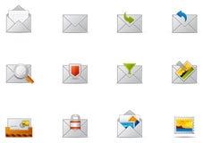 10 komunikacj emaila ikony pixio set ilustracja wektor