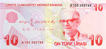 10 Lira banknote back Stock Photography