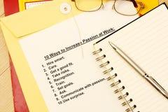 10 Möglichkeiten, Neigung bei der Arbeit zu erhöhen Lizenzfreie Stockbilder