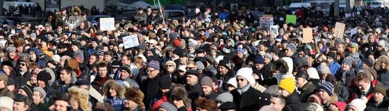 10 Maart 2012. De vergadering van de oppositie in Moskou Royalty-vrije Stock Foto