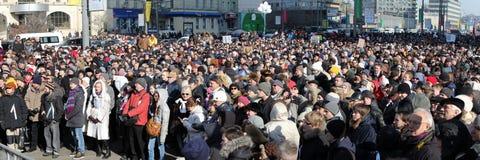 10 Maart 2012. De vergadering van de oppositie in Moskou Stock Foto's