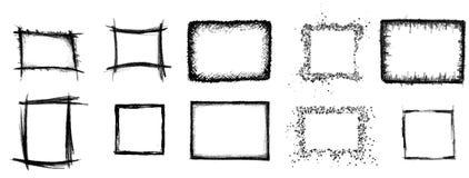 10 marcos artísticos Stock de ilustración