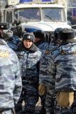 10 mars 2012. Forces de police spéciales Photo stock