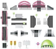 10 miasta tworzenia diy elemets zestawu mapy część Obraz Royalty Free
