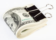 10 mila dollari US Si fissano con la clip di carta Immagini Stock