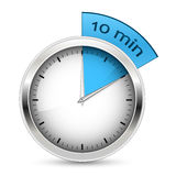 10 minutes. Timer  illustration. Royalty Free Stock Photo