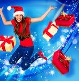 10 missis圣诞老人 免版税库存照片