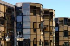 10 modernbuildingsreflexioner Royaltyfria Bilder