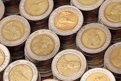 10 monedas tailandesas del baht Fotos de archivo