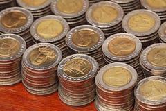10 monedas tailandesas del baht Fotografía de archivo libre de regalías
