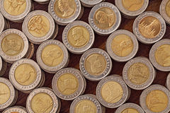 10 monete tailandesi di baht Immagine Stock Libera da Diritti