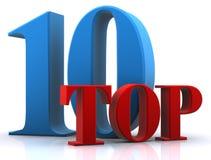 10 nagrody wierzchołek ilustracji