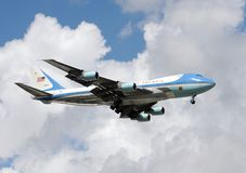 10 Oct; 2008; MIAMI: President Bush Air Force One Stock Afbeeldingen