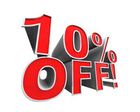 10% off! Stock Photo