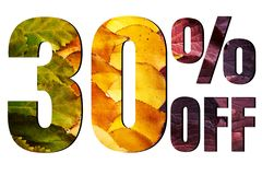 Free 10 Off Discount Promotion Sale Poster, Ads. Autumn Sale Banner With Green, Yellow And Red Leaves On White Background. Stock Photos - 156699623