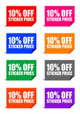 10% off sticker price. Adobe illustrator file is available Royalty Free Stock Image
