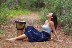 10 outdoors piękna kobieta Obrazy Royalty Free