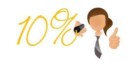 10 per cento Immagini Stock