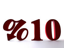 10 percent. Sale icon 3D high quality rendered illustration Royalty Free Stock Image