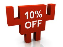 10 percent discount Stock Photos