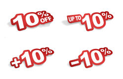 10 percent promotion Stock Images
