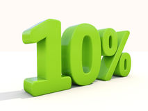 10% percentage rate icon on a white background Royalty Free Stock Photo