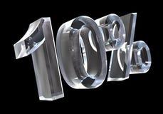 10 percenten in (3D) glas Stock Fotografie
