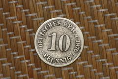 10 pfennig year 1876 - front Royalty Free Stock Image