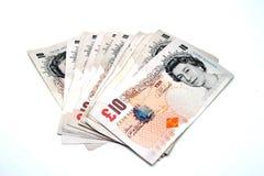 10 Pfund-Anmerkungen Lizenzfreies Stockbild