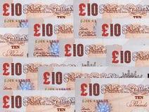 10 Pfund Anmerkungen Stockbilder
