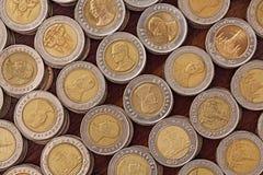 10 pièces de monnaie thaïes de baht Image libre de droits