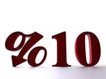 10 procentów Obraz Royalty Free