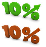 10 Prozent Stockfotografie