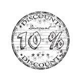 10-Prozent-Rabattstempel Lizenzfreie Stockfotos