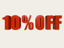 10 Prozent weg vom Zeichen Lizenzfreie Stockfotografie