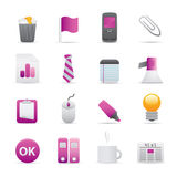 10 Purple Office Icons Royalty Free Stock Image
