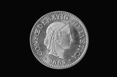 10  rappen Swiss 2009 Royalty Free Stock Images