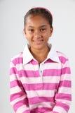 10 rosa barn för ståendeschoolgirlwhite Royaltyfri Bild