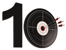 10 Shows Anniversary Or Birthdays. 10 Target Showing Anniversary Or Tenth Birthday Celebration Stock Image