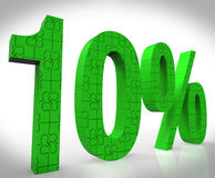10 Sign Shows Price Cut Promo And Bonus Sale. 10% Sign Shows Price Cut Promo And Bonus Sale Stock Illustration