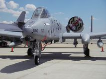 A-10 Tank Killer. Photo of A-10 Tank Killer plane at Andrew's Air Force Base in Maryland during Open House Day. This plane is designed as a ground attack fighter stock photo