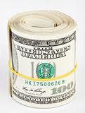 10 thousand US dollars rolled up Stock Photo