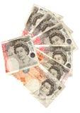 10 und 50 Pfund Lizenzfreie Stockfotos