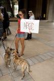 10 upptar anti apec honolulu protest Fotografering för Bildbyråer