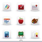 10 utbildningssymbolsserie Arkivfoton